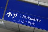 Fototapety Hinweisschild Parkplätze