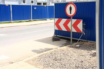 No walking sign.