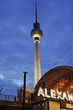 Alexanderplatz by night, Berlin, Germany