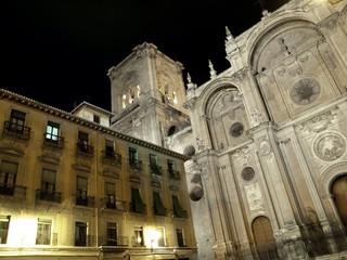 Catedral de Granada de noche