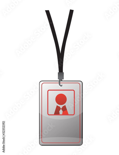 Security ID pass on a black lanyard