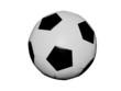 Постер, плакат: Футбольный мяч на белом фоне