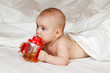 Baby girl  with sippy cup
