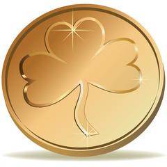 Coin wirh clover