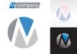 Logo spherical letter M # Vector