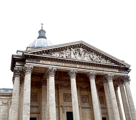 Pantheon in Paris on white background