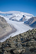 aletsch glacier in shalow dof