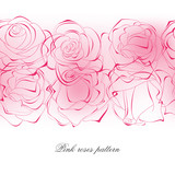 Delicate pink roses pattern