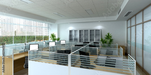 Leinwanddruck Bild clean office space