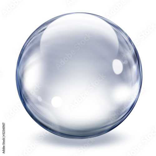 obraz lub plakat Transparent glass sphere