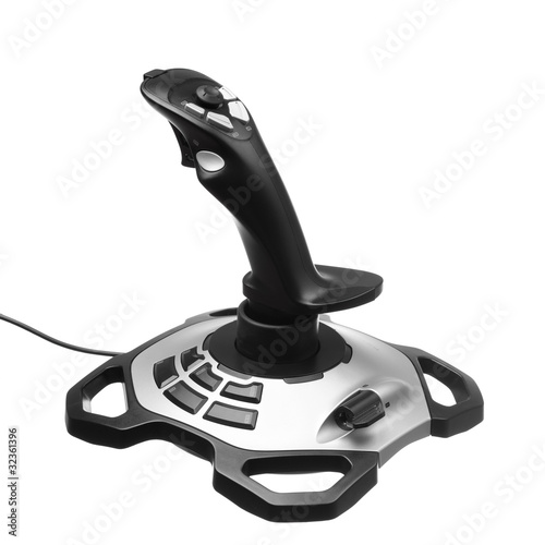 gamepad joystick isolated on white