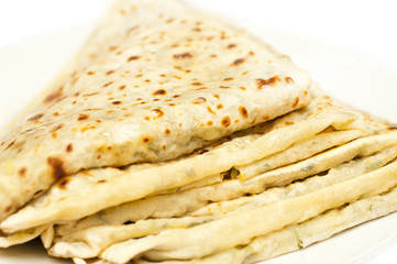 Gutab. Traditional flat unleavened wheat bread pastry