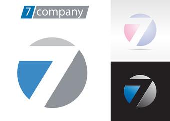 Logo spherical number 7 # Vector