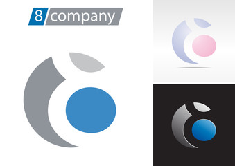 Logo spherical number 8 # Vector