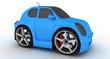 Mini Car blue 2