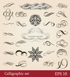 vector set, calligraphic design elements and page decoration