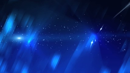 abstract blue background with shining dots and crystals