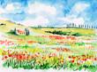 Quadro Tuscany landscape