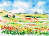 Fototapety Tuscany landscape