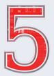 chiffre 5 sur fond blanc