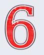 chiffre 6 sur fond blanc