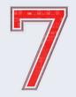 chiffre 7 sur fond blanc