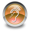 "Orange Glossy Pictogram ""Hearing Impairment"""