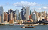 new york midtown skyline over hudson river