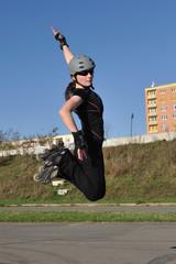 Skate roller jump