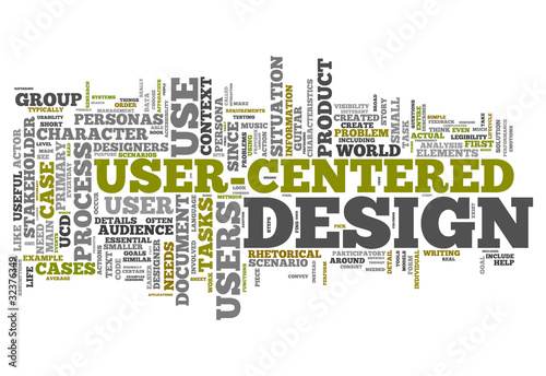 "Word Cloud ""User-Centered Design"""