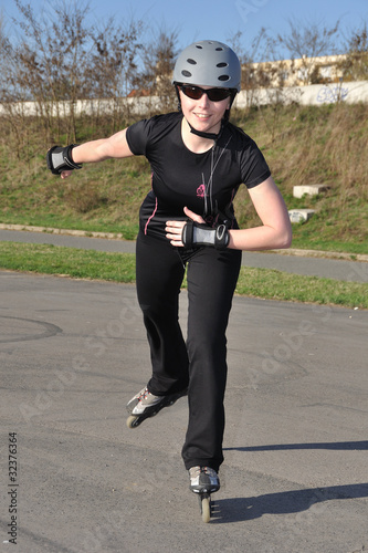 Woman Inline Skating - Leisure Activity