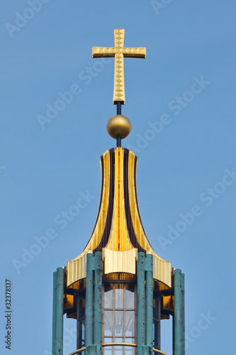 Golden Cross on top of the Berliner Dom (Cathedral), Berlin, Ger