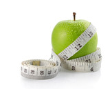Fototapety fresh apple with measuring tape