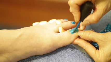 Pedicure detail.