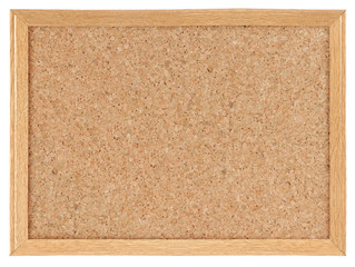 Cork board isolated over white