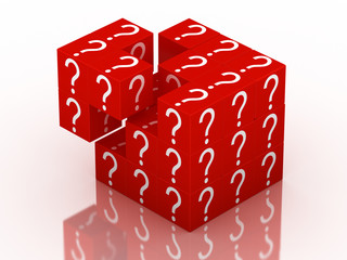 question and guessing puzzle cube