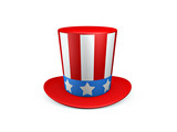 Uncle sam hat of usa poster