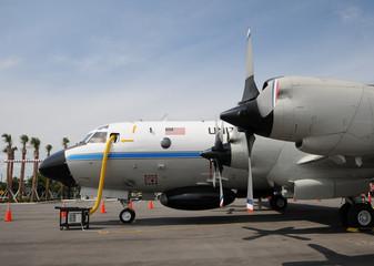 Hurricane hunter airplane