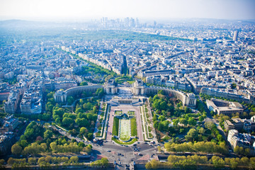 Paris cityscape from Eiffel tower
