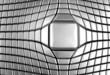 Silver aluminium square luxury background