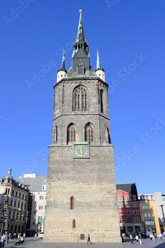 Leinwanddruck Bild Wahrzeichen - Roter Turm