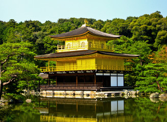 The Golden Pavilion Kinkakuji at Kyoto, Japan