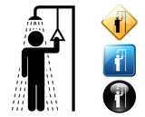 Emergency shower pictogram and signs