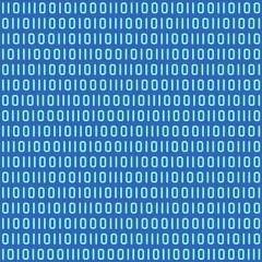 Binary code seamless (repeatable) pattern, wallpaper