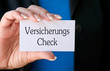 Versicherungs Check - Visitenkarte