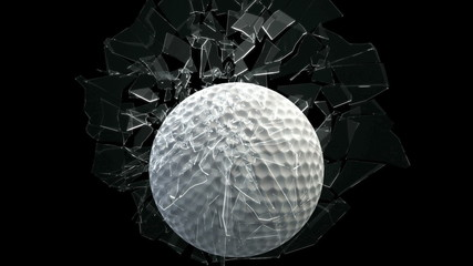 Golf ball breaking window