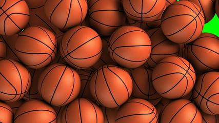 Basket balls transition effect