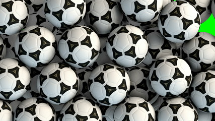 Soccer balls transition effect