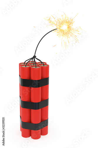 Dynamite with burning wick - 32391131
