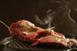 Carne sulla bistecchiera